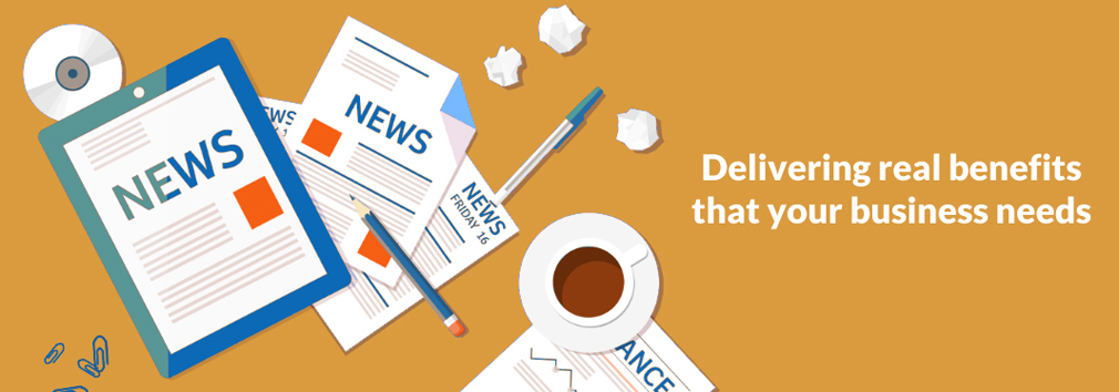 Coffee and newspapers - Delivering real benefits that your business needs